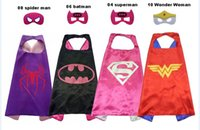 Halloween gift L70*70cm kids Super hero Capes and masks - Sp...