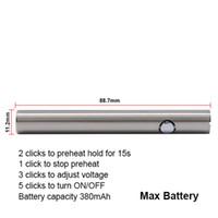 itsuwa 380mah max fonction de préchauffage rechargeable stylo vaporisateur de tension réglable de la batterie à huile épaisse pour Amigo Liberty V1 V4 V9 GLA3 chariots