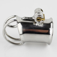 New Arrival PA Lock Male Chastity Cage Latest Design Stainle...