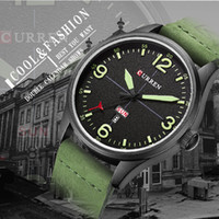Curren Men's Sports Quartz Watches Relojes para hombre Top Brand Luxury Leather date week Relojes de pulsera Relogio Masculino 8265