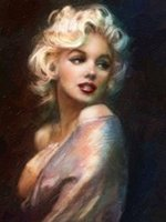 Framed MARILYN MONROE, Genuine Hand Painted Famous Portrait A...