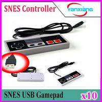 10pcs controller migliore USB di vendita del gioco Gamerpad per NES PC Windows per computer Mac Game Controller Gamepad YX-NES-01
