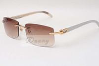 Gafas de sol sin enamoradas calientes Gafas 3524012 Cuerno de buey natural Hombres y mujeres Gafas de sol Gafas Eyeglassessize: 56-18-140mm