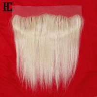 9A Sınıf Kaliteli 613 Sarışın İnsan Saç Dantel Kapatma Frontal Düz Perulu Saç Ipeksi Düz Saç Ekstraksiyonları Brezilyalı Bakire