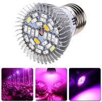 الطيف الكامل 28W E27 LED ينمو ضوء كيت الزراعة المائية بلوبس مصباح الخضار زهرة