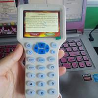 Englisch Super Handheld Rfid NFC Kopierer Reader Writer cloner 9 frequenz + 5 Stücke 125 khz karte + 5 Stücke 13,56 mhz UID Veränderbare Karte