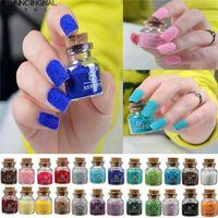 Partihandel - Pro Fashion 24 Färger Nail Art Polish Velvet Flocking Dammpulver Design Set Nails DIY Dekorationsverktyg Tips Gratis frakt