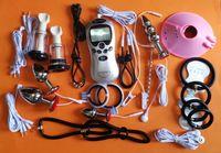 2017 In Acciaio Inox Pene Uretrale Sounding Plug Electric Shock Cock Ring Ball Barella Extender Allargamento BDSM Sex Toys