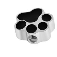 Черная собака Лапа форма из нержавеющей стали кремация ювелирные изделия урна кулон ожерелье Пэт Мемориал ювелирные изделия Бесплатная доставка
