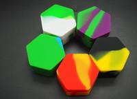 Recipiente do silicone da forma do hexágono dos recipientes do silicone 10pcs / lot para o concentrado dos dabs