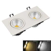 LED COB Downlight kare 2x15 W 15 W Led spot ışık ev dekorasyon için AC85-265V Tavan Gömme lamba Aydınlatma + Sürücüler CCE UL