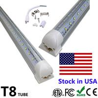 25pcs 4피트 5피트 6피트 8피트 LED 튜브 라이트 V 모양 통합 LED 튜브 4 5 6 8피트 쿨러 도어 냉장고 LED 조명
