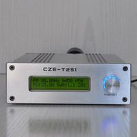 6 piezas CZH-T251 0-25W 87.5-108MHz estación de radiodifusión Transmisor FM + Fuente de alimentación + antena GP con cable de 8 metros
