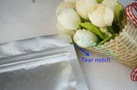 Pochette thermo-soudable de 8.5x14cm, 100pcs sacs de rangement poly de sacs de rangement en polyéthylène pur blanc-argenté en aluminium