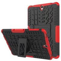 삼성 탭 A S2S3E T550T555T710T810T820T560 를 위한 내진성 어려운 기갑 상자 Kickstand 잡종 상자
