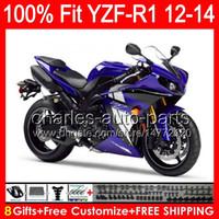 8gifts gloss azul Injeção Para YAMAHA YZF-R1 12 13 14 YZF R1 12-14 96NÓNO122 YZF 1000 YZF R 1 YZF1000 YZFR1 2012 2013 2014 azul preto Carenagem