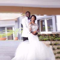 Vestidos de Novia 2017 Последний дизайн Африканский плюс размер свадебные платья совок с длинным рукавом кружева русалка свадебные платья невесты платье