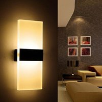 Lámpara de pared LED 12w cuadrado Acryl Metal Iluminación para el hogar Lámpara Pared Escalera Baño Hierro Aplique de pared Luminar KTV Bar Pasillo Decorar Luz de pared