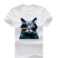 Cool Cat With Nyan Sunglasses New Fashion Cotton O Neck Men ...