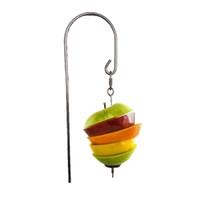 Acciaio inossidabile piccolo giocattolo pappagallo carne Kabob cibo titolare durevole gabbia per uccelli accessori bastone frutta spiedo strumenti di trattamento degli uccelli