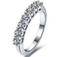 새로운 스타일 0.7 Karat Sona 시뮬레이션 다이아몬드 무한 실버 결혼 반지 웨딩 밴드 스털링 실버 반지 드롭 배송