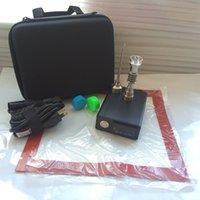 ポータブルEデジタルネイルD DABネイル加熱コイルフラット10mm / 16mm / 20mm電気チタンネイルPIDガラスボブオイルリグDabber Box