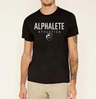 Nueva venta caliente 2017 primavera verano Alphalete tee imprimir top de  tiburón camiseta sportwear moda hip f9b05a5abe6
