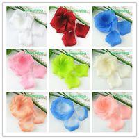 20 couleurs Pick - 5 paquets (720pcs) Tissu non tissé artificiel fleur de rose pétale pour la fête de mariage