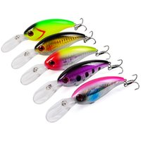 5- colors 10 cm 14. 19 g Hard plastic lures fishing hooks 3D E...