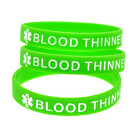 1PC Ink Filled Logo Blood Thinner Silicone Rubber Wristband ...