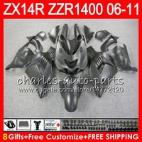 Cuerpo para Kawasaki ZZR1400 14 R ZX14R 06 07 08 09 10 11 63HM8 ZZR Matte Black 1400 ZX-14R ZX 14R 2006 2007 2009 2010 2010 2010