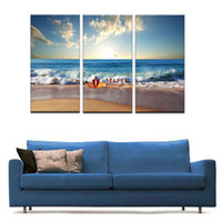 3 Panels(No Frame) Blue sea water Picture Modern Wall Decor ...