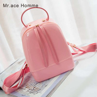 Candy Color Summer Jelly Backpacks Waterproof PVC School Bag...