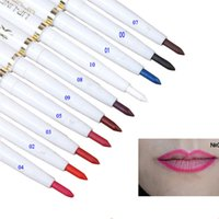 Wholesale- 10 Colours Natural Brand Automatic Rotary Lip Lin...