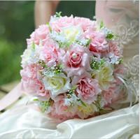 Lüks Düğün Parti Yapay Bruidsboeket Gelinler Için Düğün Buketi Slik Çiçek Kız Buket 2019 Renkler Hızlı Shipingcheap