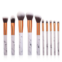 10pcs set Print Makeup Brushes Set Professional Blush Powder...
