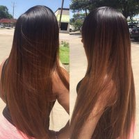 Lace Front Human Hair Wig Ombre T1b 30 Straight Full Lace Wi...