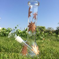 copper glass bong leaf coppered water bongs big bottom trian...