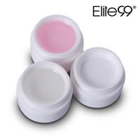 Atacado 10 pcs Elite99 UV Gel Builder Nail Art Dicas Gel Nail Manicure Extensão Rosa Branco Transparente 3 Cores 15G