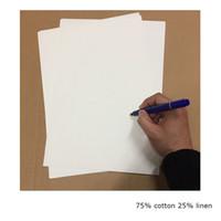 Bond Printinng Paper 75% coton 25% lin papier de test de stylo de passe de haute qualité avec fibre de couleur A4 taille