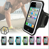 Para iphone 7 braçadeira caso correndo gym sports sports bag titular pounch capa case para samsung galaxy s6 borda anti-suor arm band banda