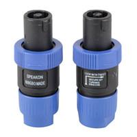 2Pcs Speakon NL4FC Bleu Connecteur de câble audio compatible mâle 4 broches compatible G00344