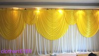 3M*6M backdrop with swag of wedding backcloth With Swags par...