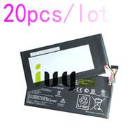 20pcs / lot 100% original 4325mah C11-ME370T batterie C11 ME370T pour google ASUS nexus7 nexus 7 piles PC tablette