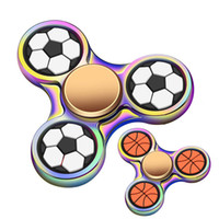 Football Basketball Fidget Spinner Triangle Zinc Alloy Hand ...