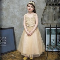 New 2017 Baby Girls Crochet Lace Party Dresses Kids Girls Pr...