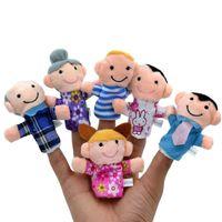 6pcs Kawaii Fingerpuppe Stofftiere Kinder Spielzeug Baby Plüschtier wir sind Familie Oma Opa Vater Mutter Mädchen Sohn