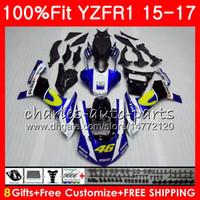 Injection Body For YAMAHA YZF 1000 YZF R 1 YZF-1000 YZF-R1 15 17 Movistar Blue 7NO3 YZF1000 YZF R1 15 16 17 YZFR1 2015 2016 2017 Fairing kit