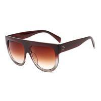 Preço de promoção New Fashion Square Óculos De Sol Das Mulheres Retro Marca Designer Óculos de Sol para As Mulheres Planas Top Oversized Óculos De Sol UV400 Oculos