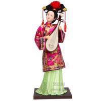 Tang Fang seta dipinto a mano arredamento per la casa ornamenti regali artigianato stampa vento cinese dinastia Qing principessa